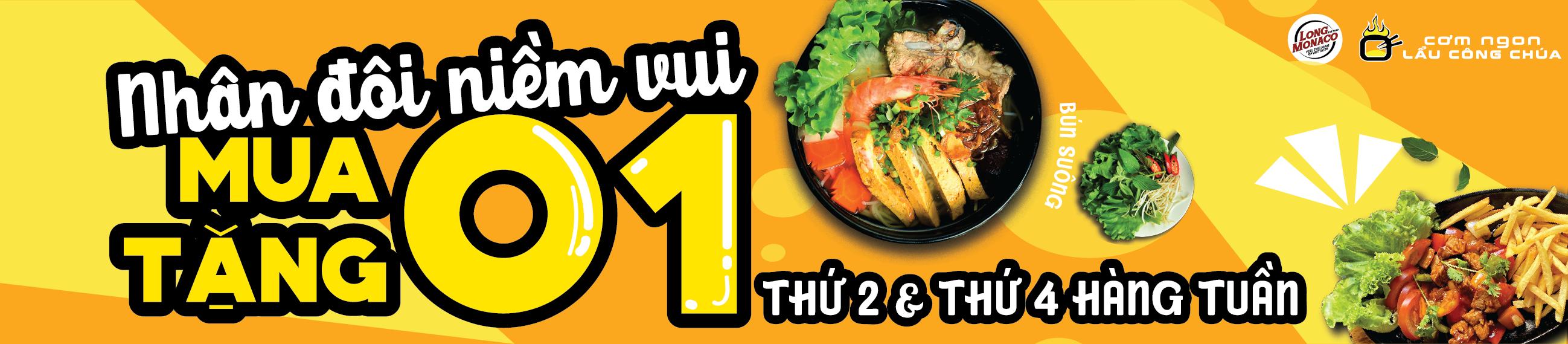 Ăn 1 tặng 1 - Deal siêu hot, menu siêu mới